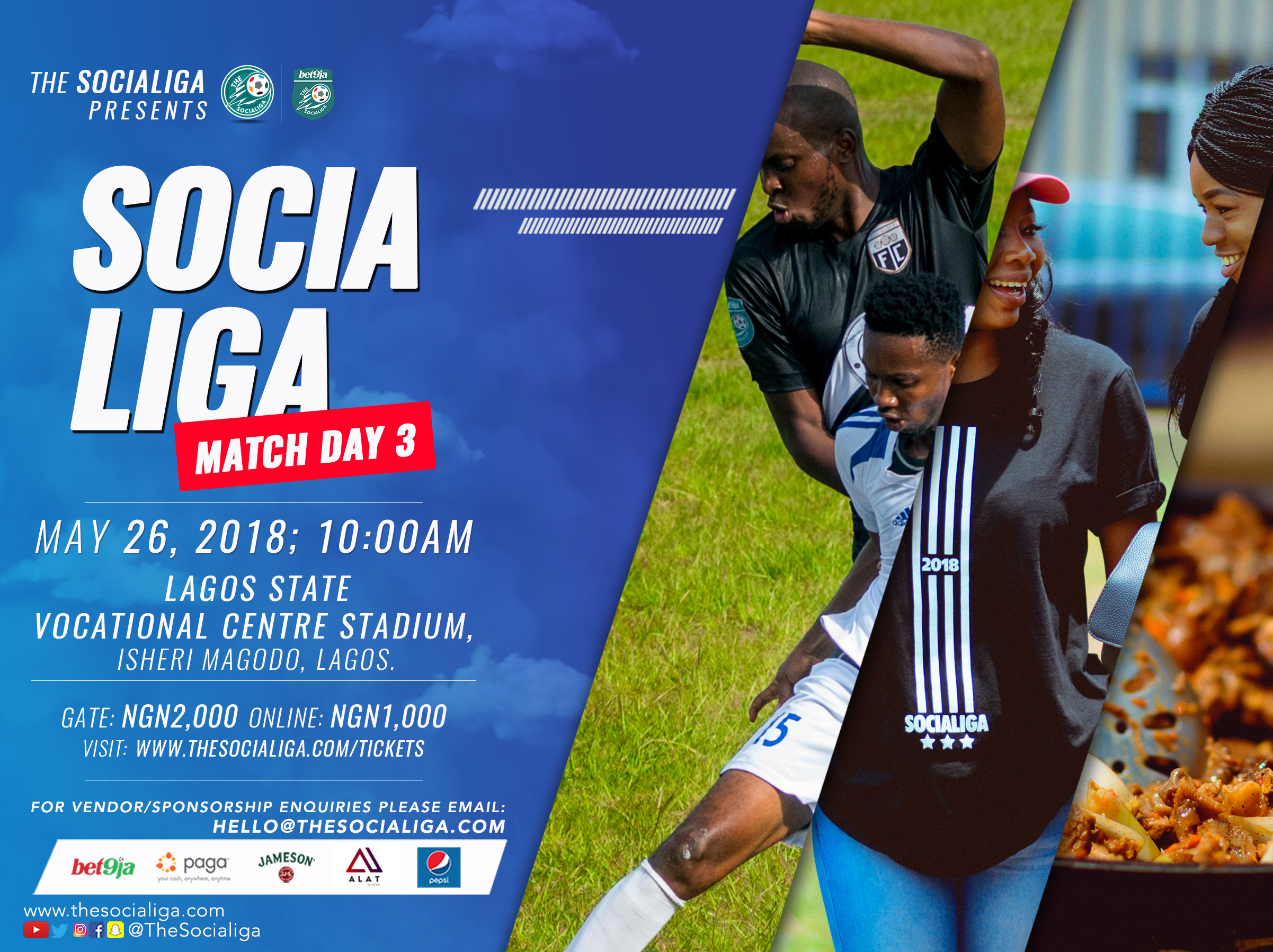 2018 Bet9ja SociaLiga Match Day 3 Preview: Island Conference
